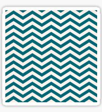 Chevron | Navy Blue & White Sticker