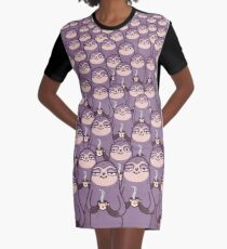 Sloth-tastic! Graphic T-Shirt Dress