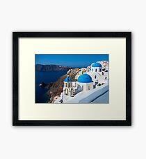 Santorini, Greece Framed Print