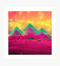 Trippy Pyramids Art Print