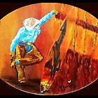 """SURFIN' PANIOLO"" by WhiteDove Studio kj gordon"