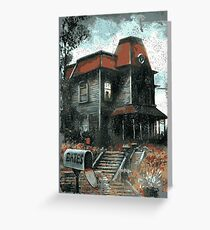 Bates Motel - Retro Greeting Card