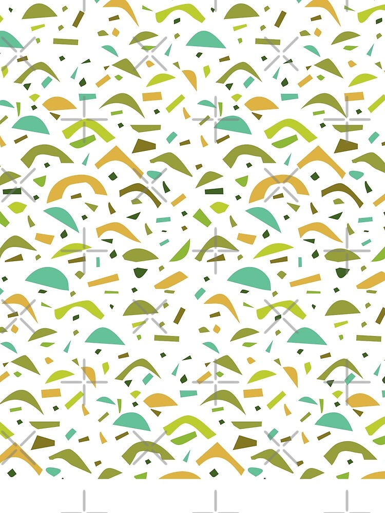 Abstract Yellow Green Shape Pattern by whya