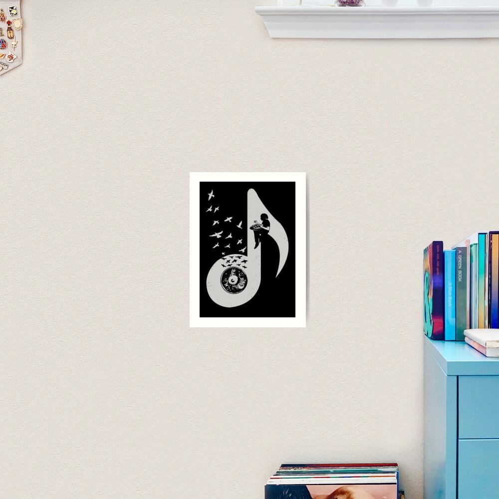 Musical note - Hang Drum Art Print