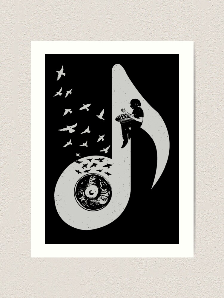 Alternate view of Musical note - Hang Drum Art Print