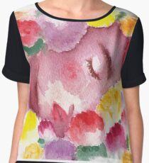 Undying Flowers Chiffon Top