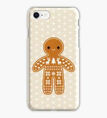 Sweater Pattern Gingerbread Cookie iPhone Case/Skin