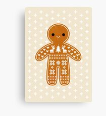 Sweater Pattern Gingerbread Cookie Canvas Print