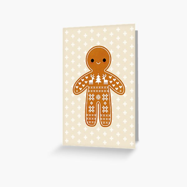 Sweater Pattern Gingerbread Cookie Greeting Card