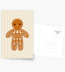 Sweater Pattern Gingerbread Cookie Postcards
