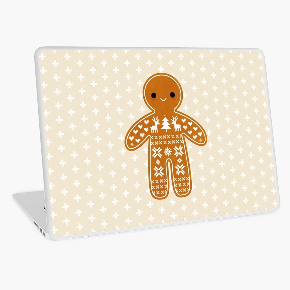 Strickjacke-Muster-Lebkuchen-Plätzchen Laptop Folie