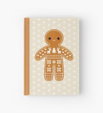 Sweater Pattern Gingerbread Cookie Hardcover Journal