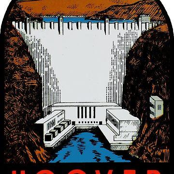 Hoover Dam Vintage Travel Decal de hilda74