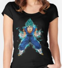 vegetto super saiyan blue Women's Fitted Scoop T-Shirt