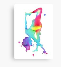 The half moon in chakra colors Canvas Print