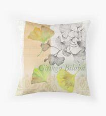 Ginkgo Biloba by Journey Home Made Throw Pillow