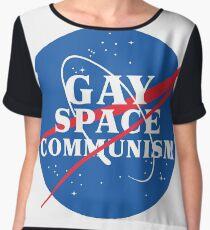 NASA Parody Gay Space Communism Chiffon Top