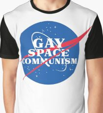 NASA Parody Gay Space Communism Graphic T-Shirt