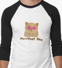 Purrfect Day Men's Baseball ¾ T-Shirt