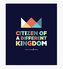 Citizen Of A Different Kingdom - Christian colorful geometric crown design Photographic Print