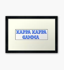 kappa ibm Framed Print