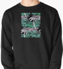 REPEAT-DESIGN TROPICAL PALM TREE COLLAGE Pullover