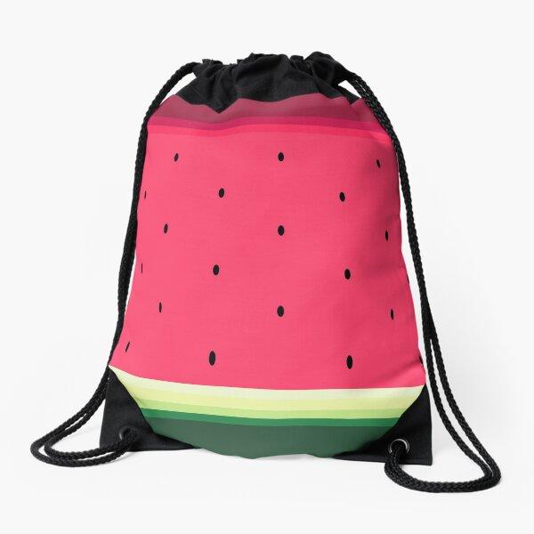 Watermelon // Graphic Fruit Pattern Drawstring Bag