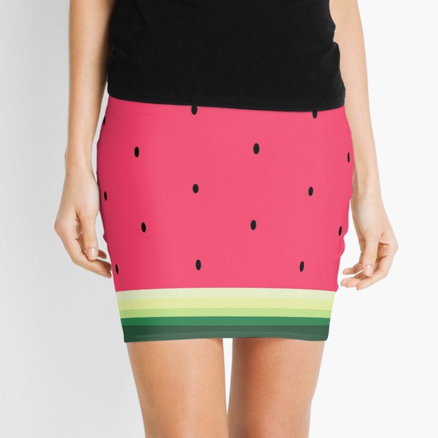 Watermelon // Graphic Fruit Pattern Mini Skirt