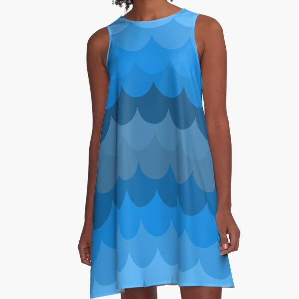 Watery Mermaiden A-Line Dress