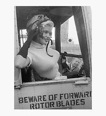Marilyn Monroe on a Plane Photographic Print
