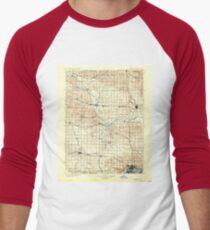 USGS TOPO Maps Iowa IA Rock Island 175434 1901 125000 Men's Baseball ¾ T-Shirt