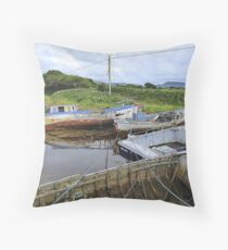 Milk Harbour In The Shadow Of Muckish Throw Pillow