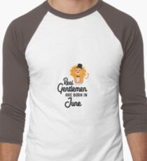 Real Gentlemen are born in June Rurs5 Men's Baseball ¾ T-Shirt