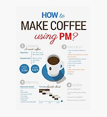 How to make coffee using project management? Vertical poster Photographic Print