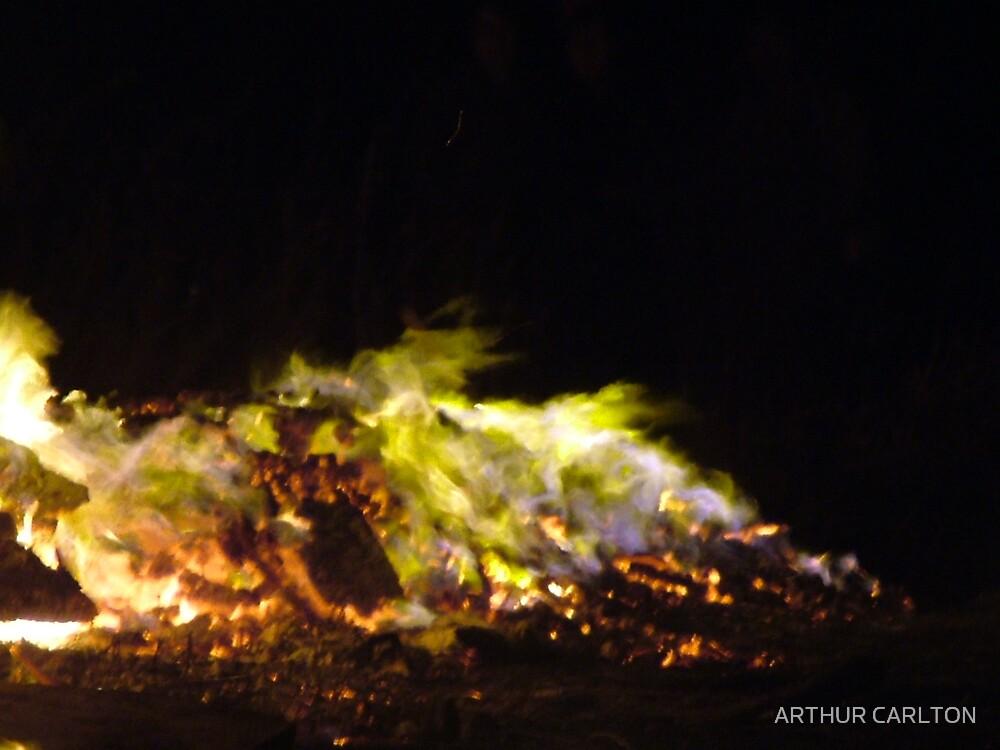 GREEN FLAMES by ARTHUR CARLTON