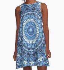 Feeling Blue Mandala A-Line Dress