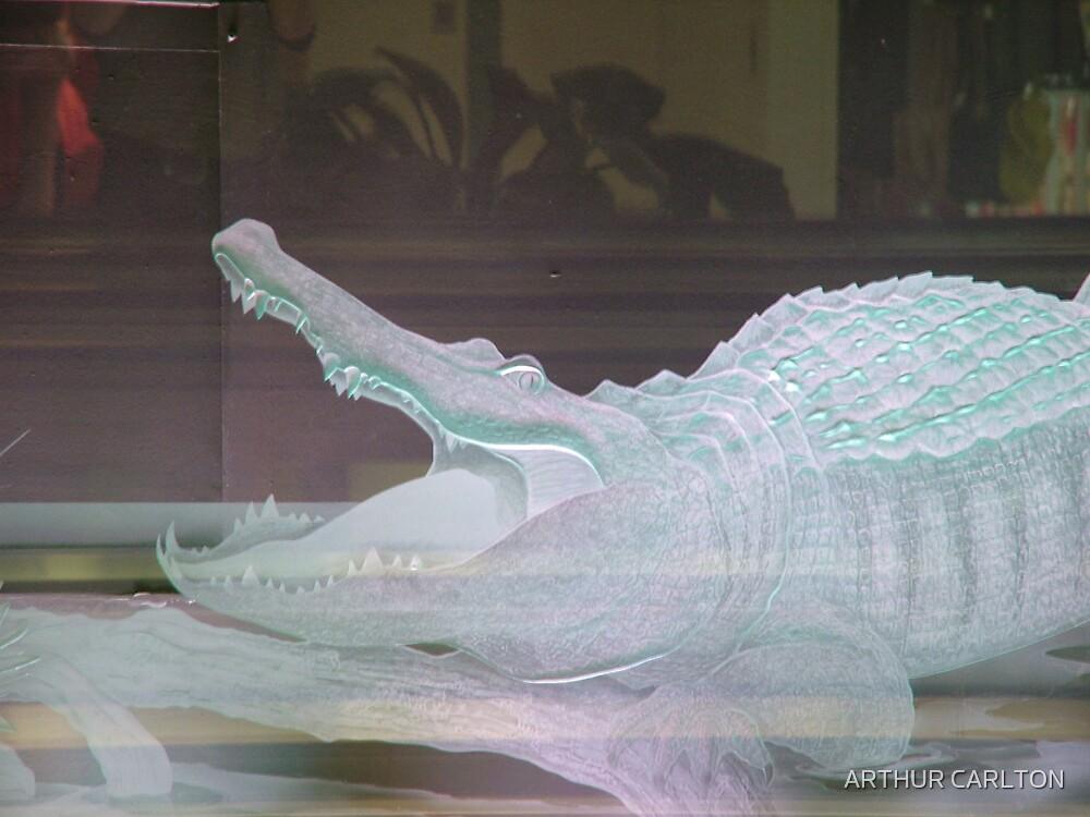 GLASS CROCODILE by ARTHUR CARLTON