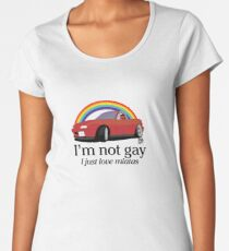 I'm not gay I just love my Miata! Women's Premium T-Shirt