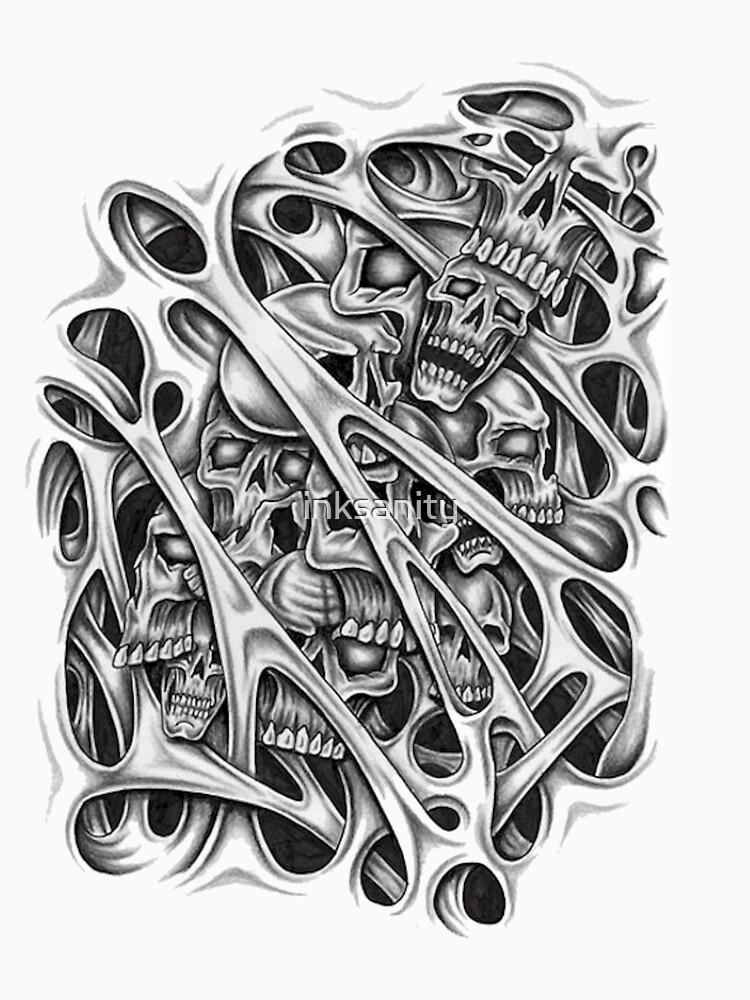 skulls by inksanity