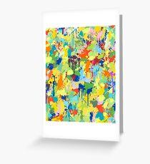 Multicolored Summer Splash Greeting Card