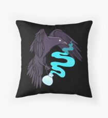 Raven Familiar // Potion Throw Pillow