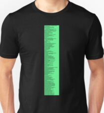 Library Sign - Dewey Decimal System by Tens -  Neon Green T-Shirt