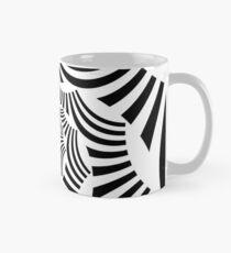 Swirly Graphic Black and White Mug