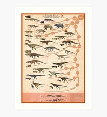 Tetrapods of the Ischigualasto Formation Art Print