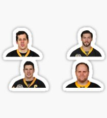 Pittsburgh Penguin Stars Sticker Four Pack Sticker
