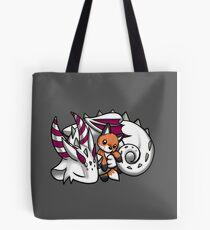 Dragon with Fox Plushie Tote Bag