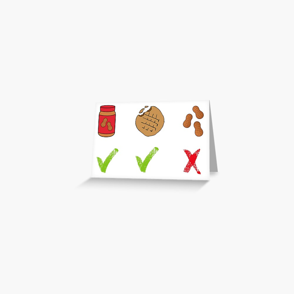 Erdnüsse - Pidge Grußkarte
