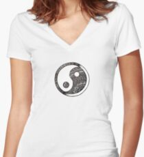 Yin to my Yang Women's Fitted V-Neck T-Shirt