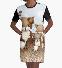 Little Foxes Graphic T-Shirt Dress