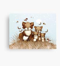 Little Foxes Canvas Print